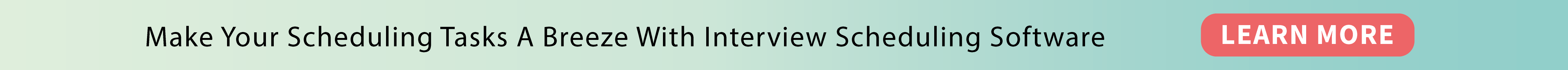 Interview Scheduling Banner