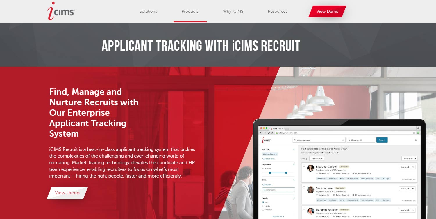 iCIMS interview scheduling software