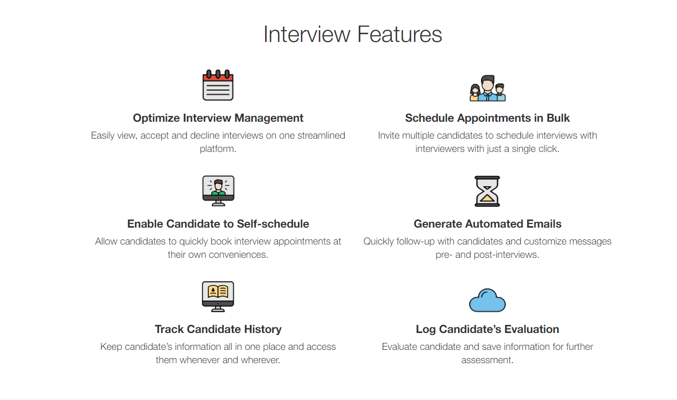 automated interview scheduling features