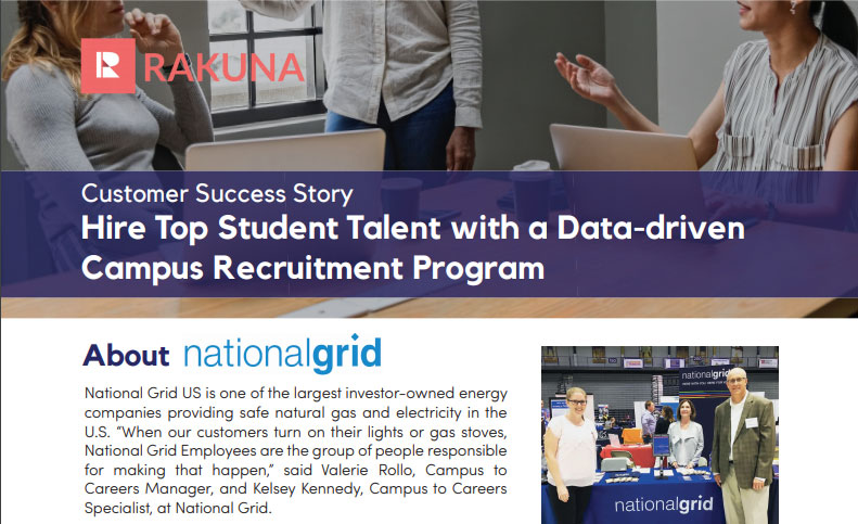 Rakuna National Grid recruitment creative strategies