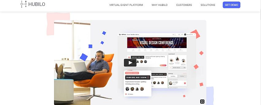 Hubilo's virtual event platform