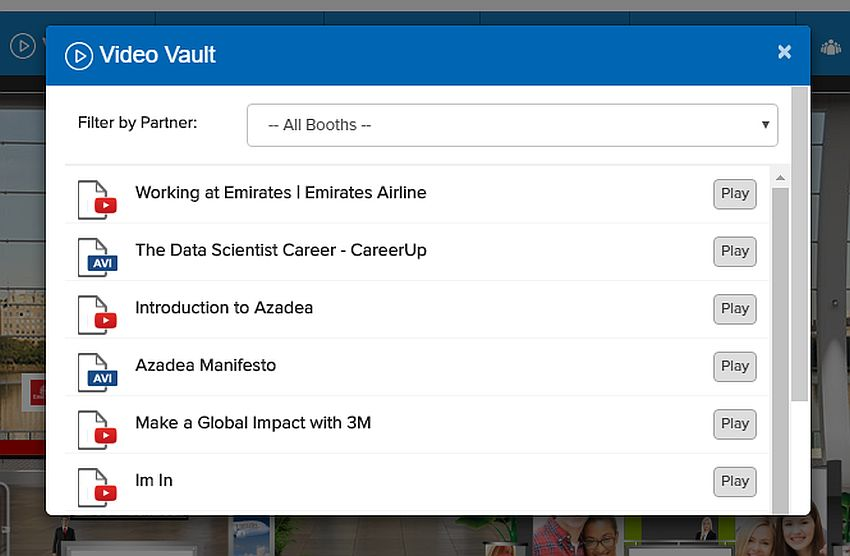 vFairs virtual event platform manage files through a virtual, in-app storage space